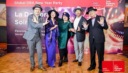 Aha Moment at emlyon Global DBA New Year Party